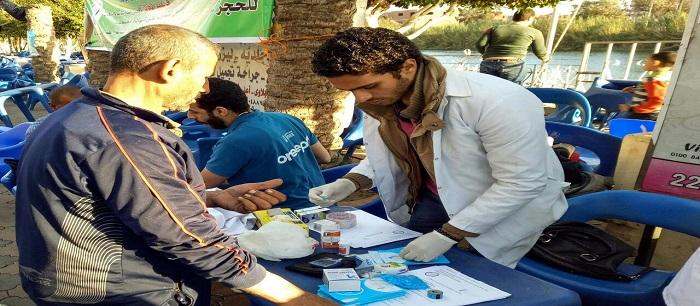 L'union égyptienne pour les étudiants de la faculté de pharmacie- université Tanta organise une compagne de sensibilisation au sujet de la maladie de diabète sucré