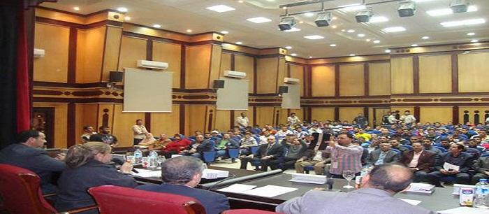 ندوة حول ( دور الدولة والمجتمع في مواجهة الهجرة غير الشرعية ) بكلية التربية الرياضية جامعة طنطا
